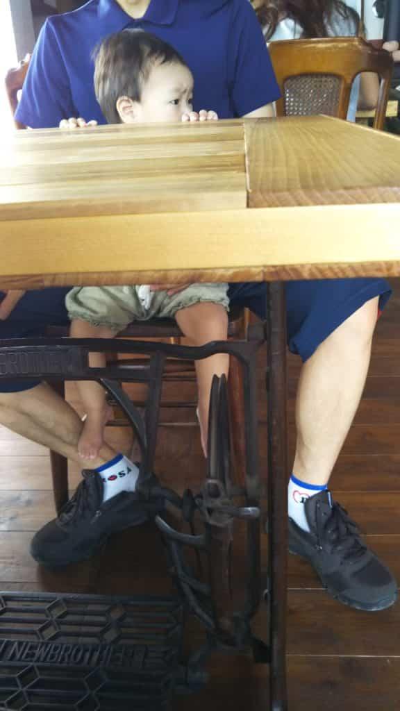 清涯荘 テーブル